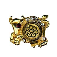 Damascene Gold Taurus the Bull Zodiac Tie Tack / Pin by Midas of Toledo Spain style 5314